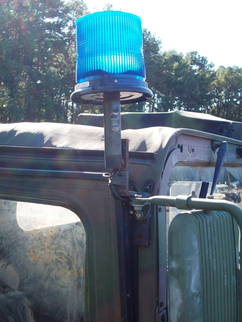 Warning Lights Hmmwv In Scale Ibis Tek Light Bar Wiring Harness The Top Mirror Bracket Was Then Mounted To L Shaped Metal Ran Inside Vehicle Along Of Windshield Disappeared